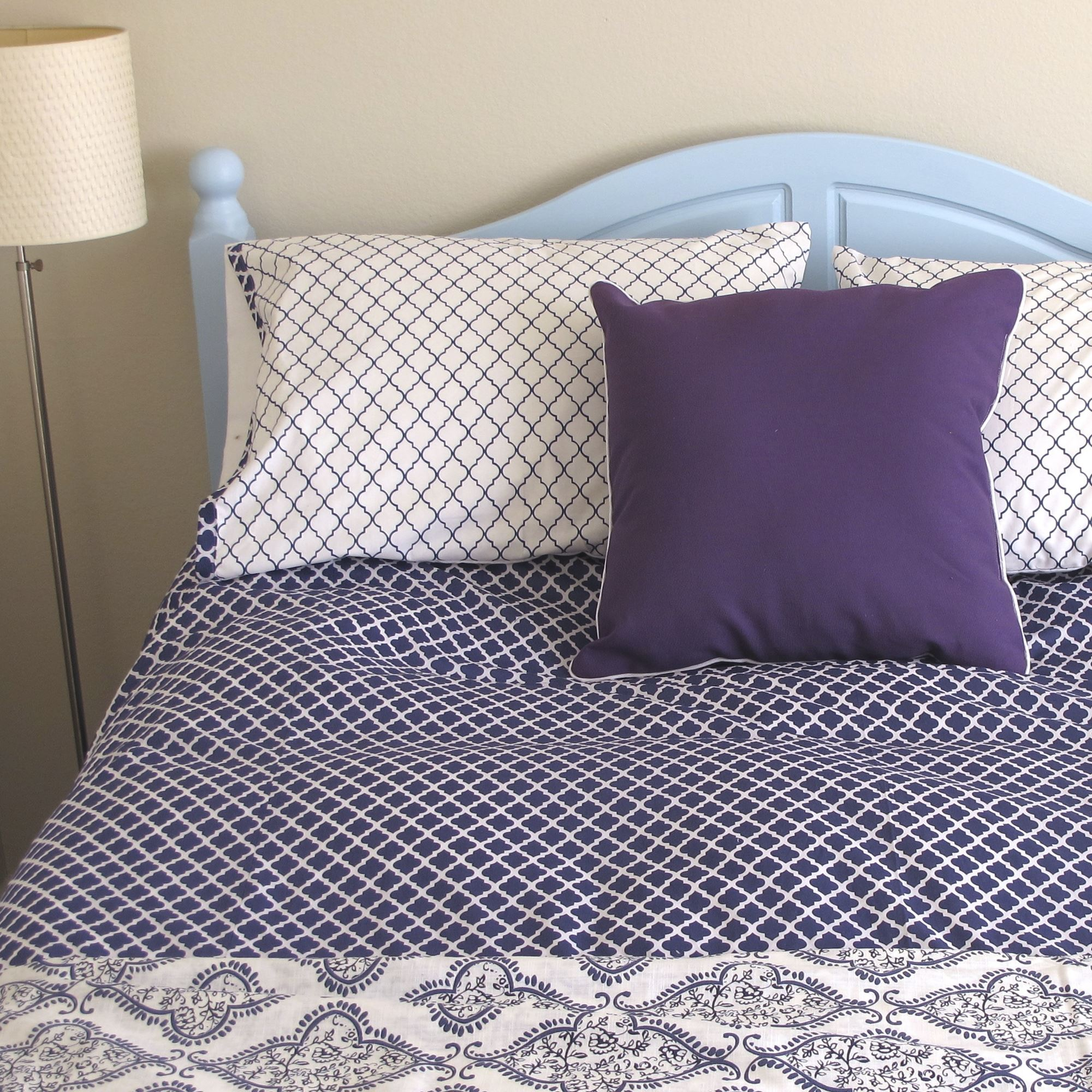 Diy Tutorial How To Make A Duvet Cover And Matching Shams