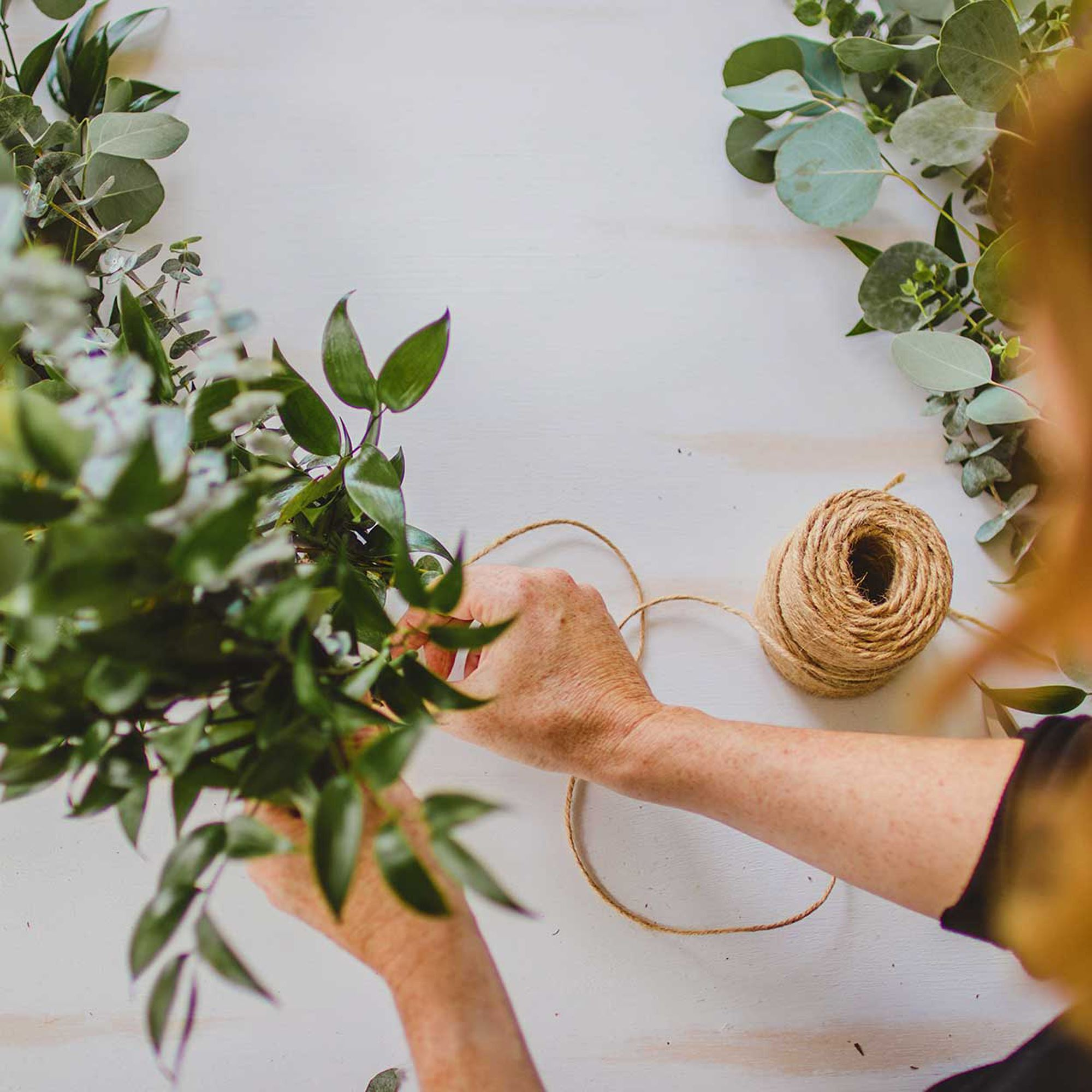 Diy Greenery Garland Using Eucalyptus Leaves
